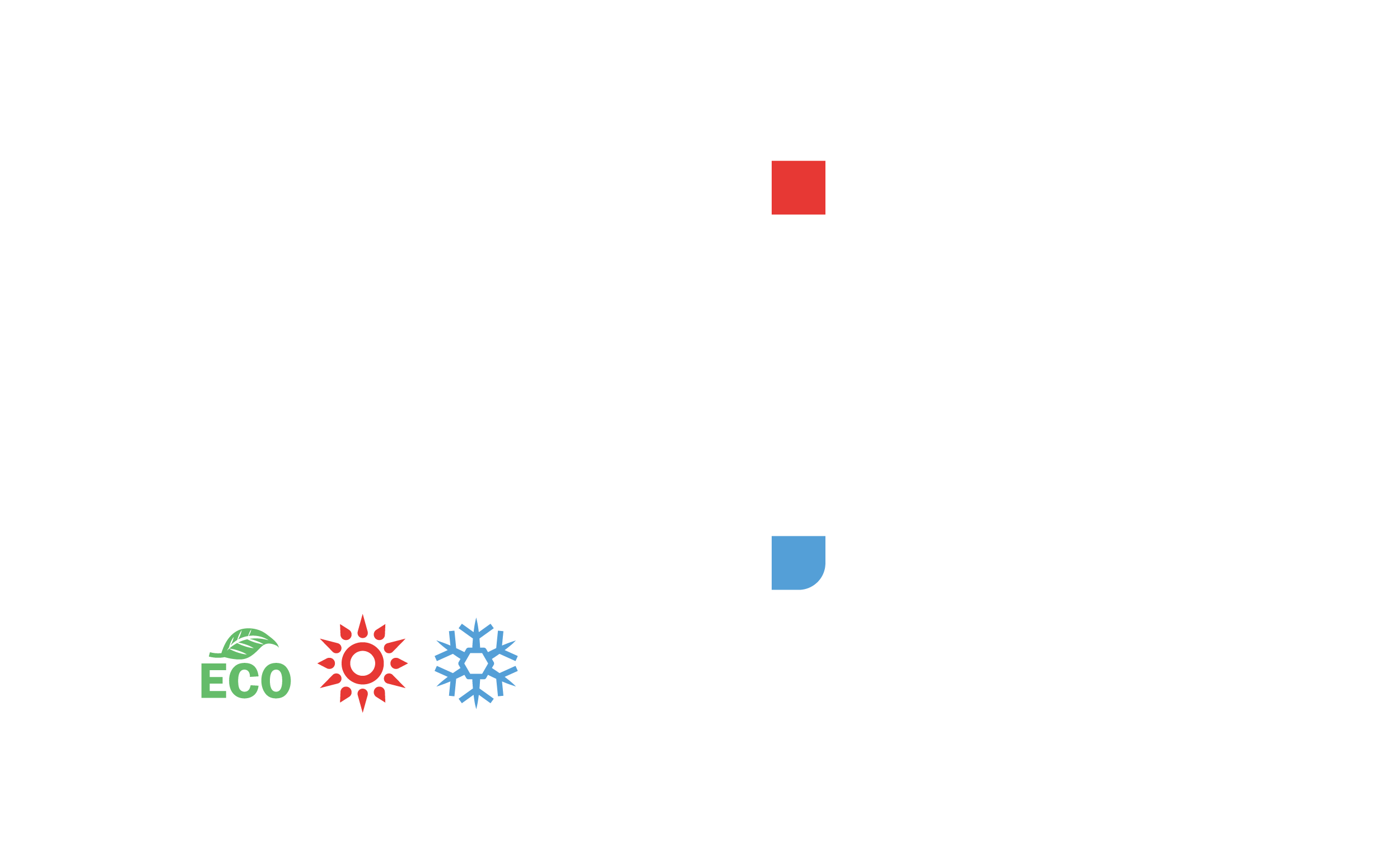 לוגו וייץ מיזוג אוויר בצבע לבן